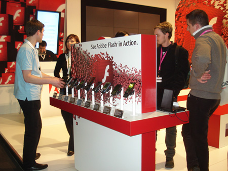 Adobe Booth at the MWC09